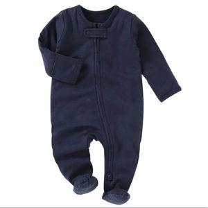 MIDNIGHT | Baby toddler organic footie jumpsuit